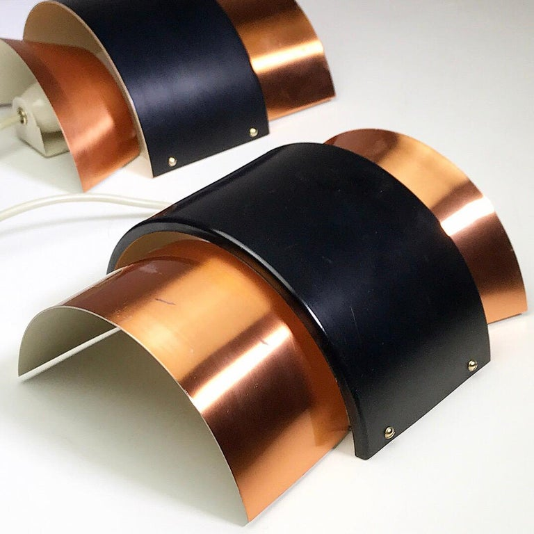 Set of Limited Copper Wall Lights by Fog & Mørup, Denmark, 1960s For Sale 3
