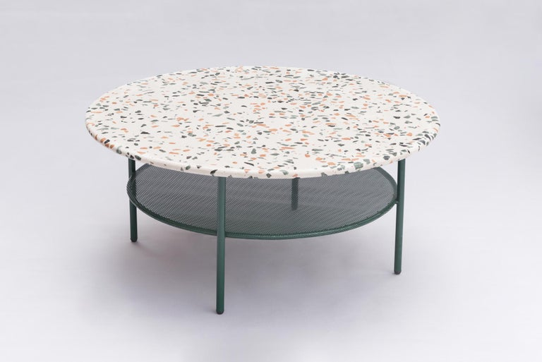 Modern Set of Lira Coffee Tables, Terrazzo top, Contemporary Mexican Design For Sale
