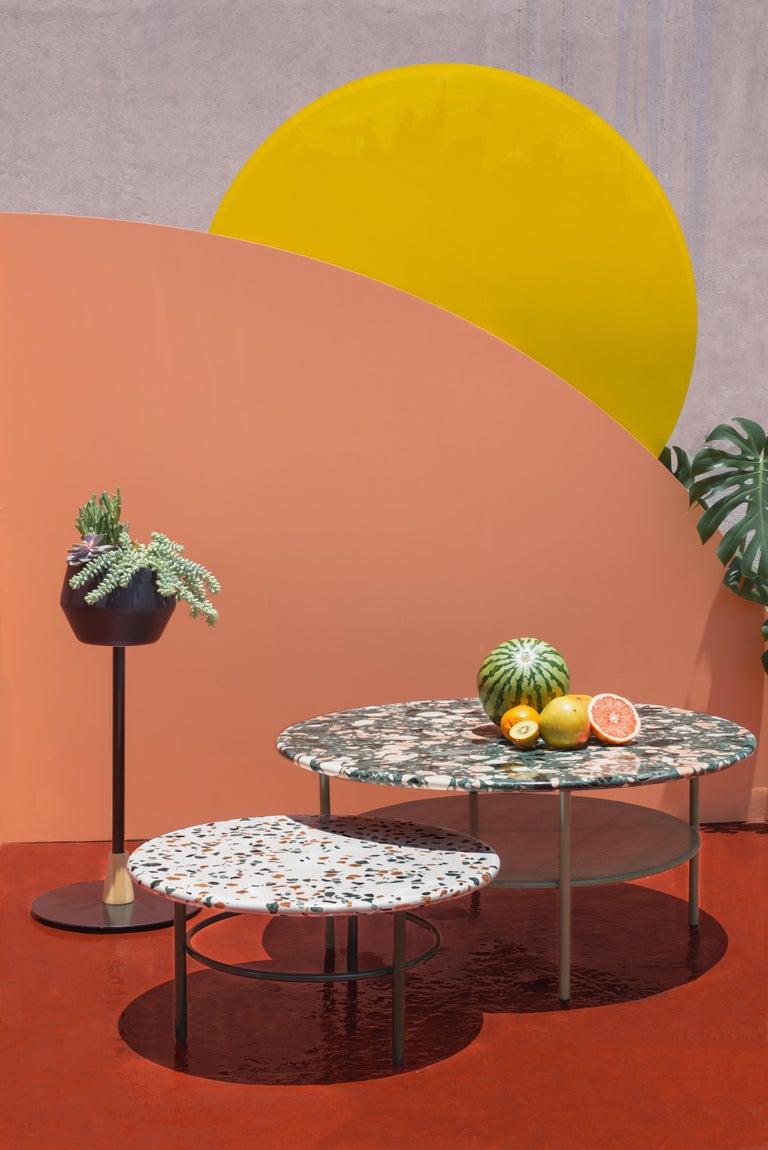 Set of Lira Coffee Tables, Terrazzo top, Contemporary Mexican Design For Sale 2