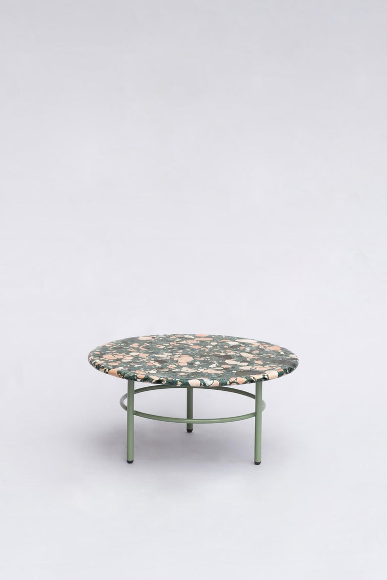 Metal Set of Lira Coffee Tables, Terrazzo top, Contemporary Mexican Design For Sale