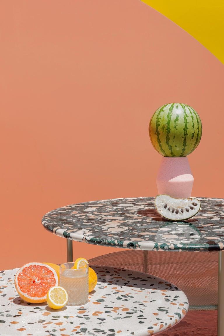 Set of Lira Coffee Tables, Terrazzo top, Contemporary Mexican Design For Sale 3