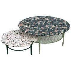 Set of Lira Coffee Tables, Terrazzo top, Contemporary Mexican Design