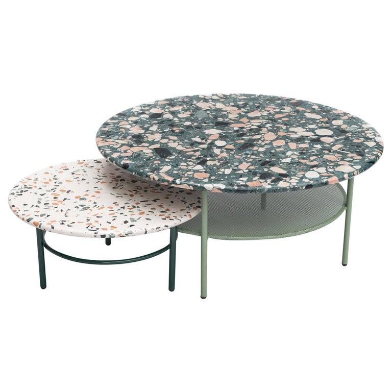 Set of Lira Coffee Tables, Terrazzo top, Contemporary Mexican Design For Sale