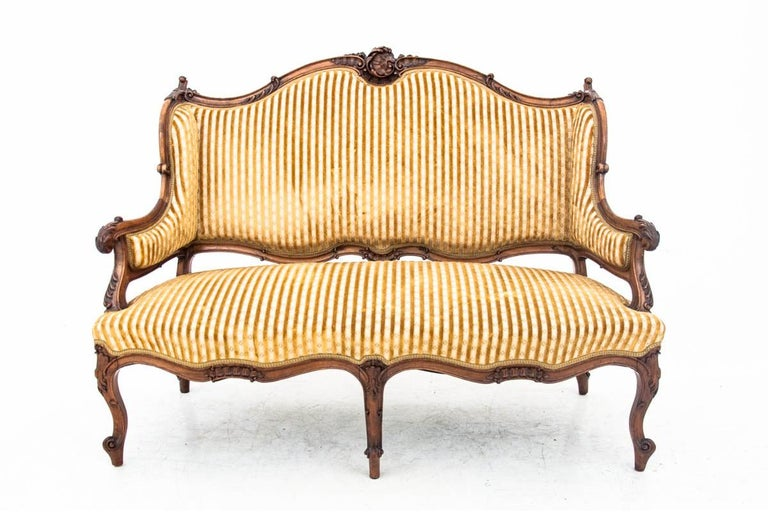 Set of Louis Philippe Style Living Room Set, France, circa 1890 For Sale 4