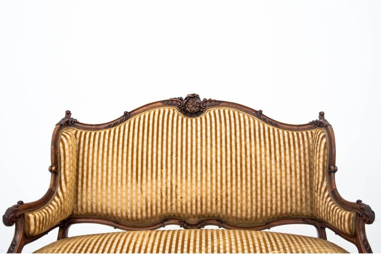 Set of Louis Philippe Style Living Room Set, France, circa 1890 For Sale 5