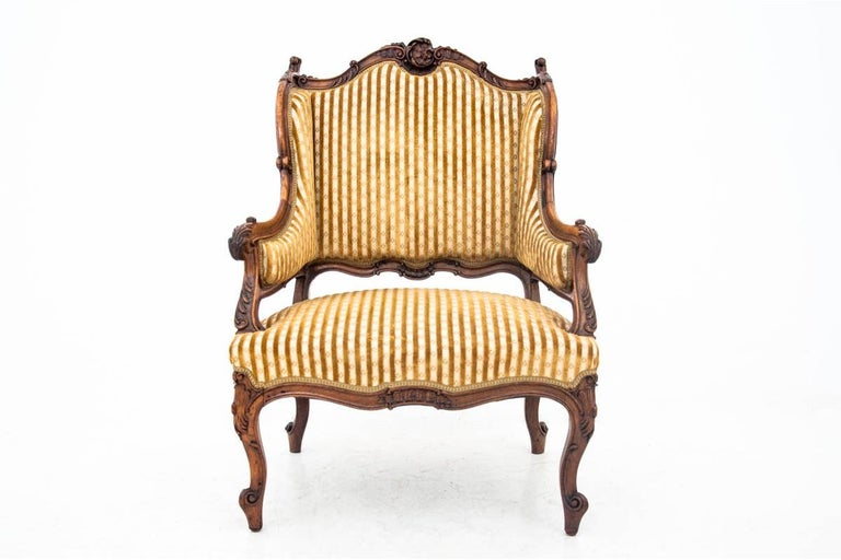 French Set of Louis Philippe Style Living Room Set, France, circa 1890 For Sale