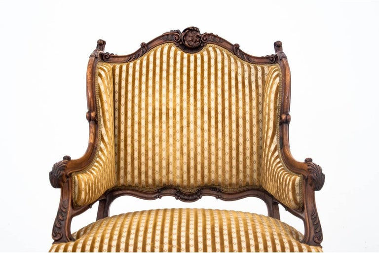 Set of Louis Philippe Style Living Room Set, France, circa 1890 In Good Condition For Sale In Chorzów, PL