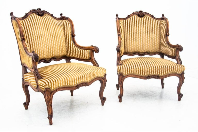 Set of Louis Philippe Style Living Room Set, France, circa 1890 For Sale 3