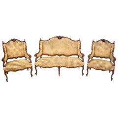 Set of Louis Philippe Style Living Room Set, France, circa 1890