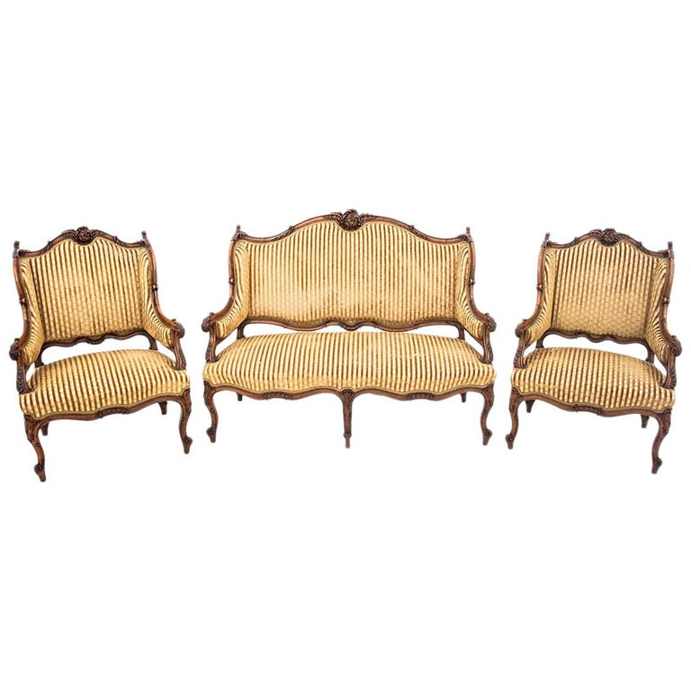 Set of Louis Philippe Style Living Room Set, France, circa 1890 For Sale