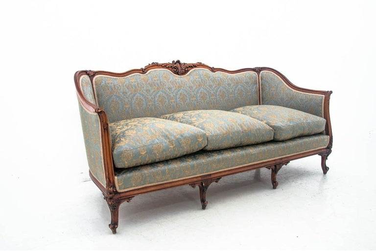 Set of Louis Philippe Style Living Room Set, France, circa 1920 In Good Condition For Sale In Chorzów, PL