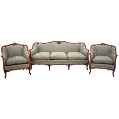 Set of Louis Philippe Style Living Room Set, France, circa 1920