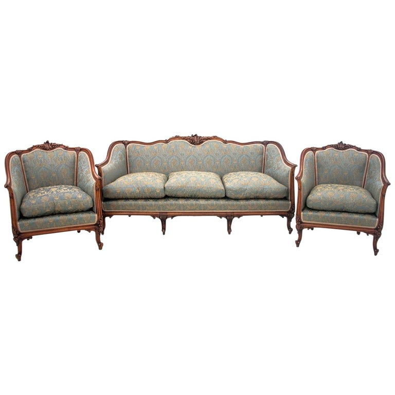 Set of Louis Philippe Style Living Room Set, France, circa 1920 For Sale