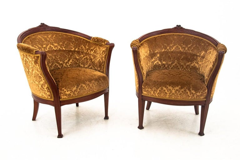 Swedish Set of Louis Philippe Style Living Room Set, Sweden, circa 1900 For Sale