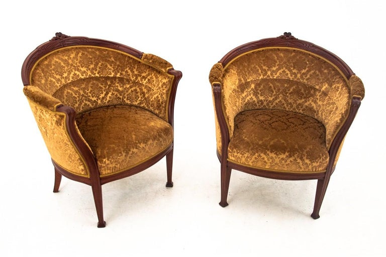Set of Louis Philippe Style Living Room Set, Sweden, circa 1900 In Good Condition For Sale In Chorzów, PL