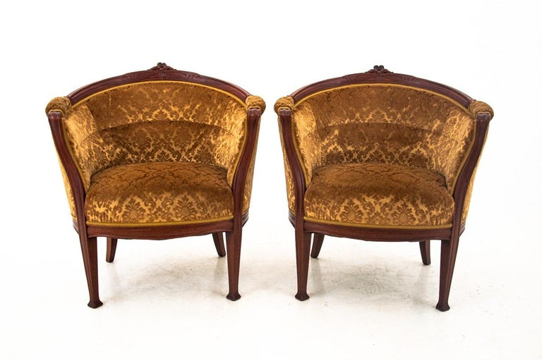 Early 20th Century Set of Louis Philippe Style Living Room Set, Sweden, circa 1900 For Sale