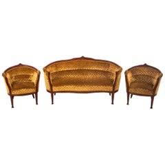 Set of Louis Philippe Style Living Room Set, Sweden, circa 1900