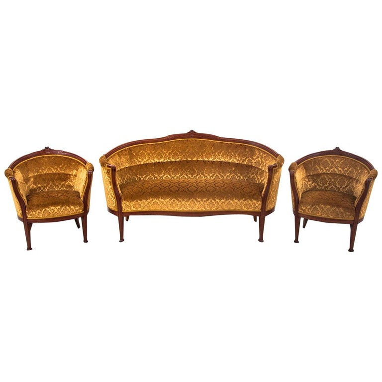 Set of Louis Philippe Style Living Room Set, Sweden, circa 1900 For Sale