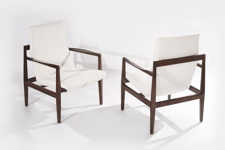 Mid-Century Modern Set of Lounge Chairs by Jens Risom, c. 1960s For Sale