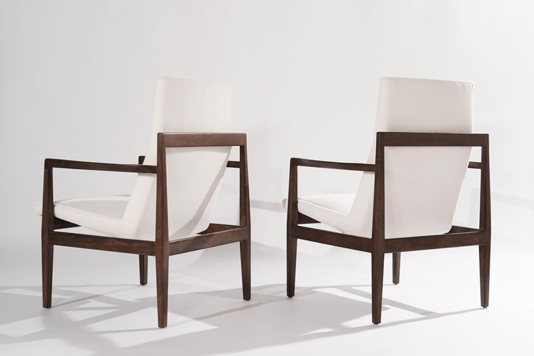Set of Lounge Chairs by Jens Risom, c. 1960s In Excellent Condition For Sale In Stamford, CT