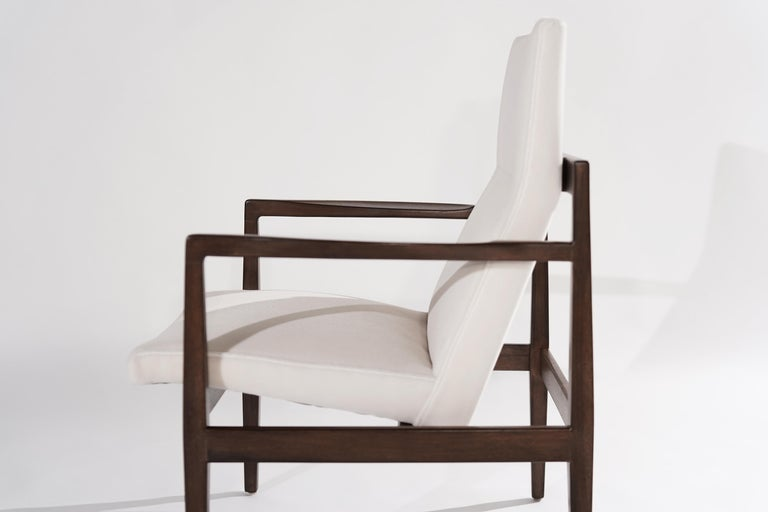 Mohair Set of Lounge Chairs by Jens Risom, c. 1960s For Sale