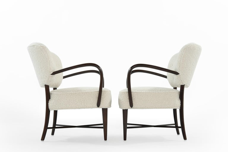 Italian Set of Lounge Chairs in Bouclé, Italy, circa 1950s For Sale