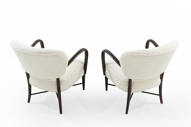 20th Century Set of Lounge Chairs in Bouclé, Italy, circa 1950s For Sale