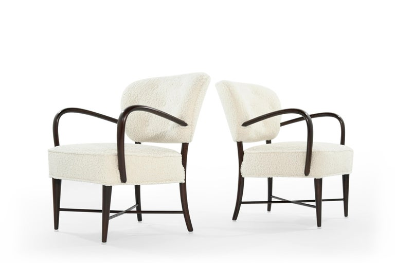 Set of Lounge Chairs in Bouclé, Italy, circa 1950s For Sale 2