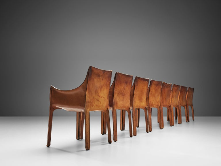 Post-Modern Set of Mario Bellini 'Cab' Chairs for Cassina