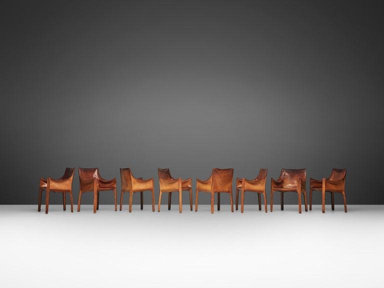 Italian Set of Mario Bellini 'Cab' Chairs for Cassina