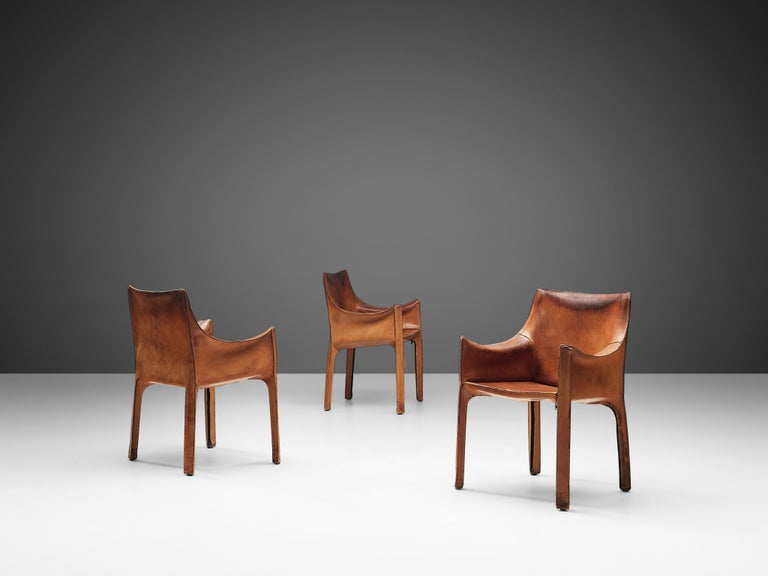 Set of Mario Bellini 'Cab' Chairs for Cassina In Fair Condition In Waalwijk, NL