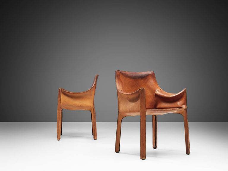Late 20th Century Set of Mario Bellini 'Cab' Chairs for Cassina