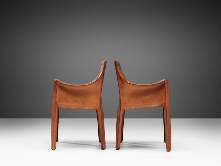 Steel Set of Mario Bellini 'Cab' Chairs for Cassina