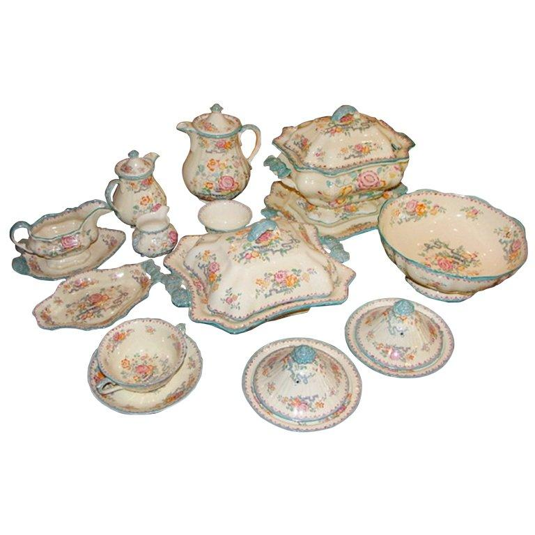 Set of Mason's Ashworth Earthenware Serving Service, Late 19th Century For Sale