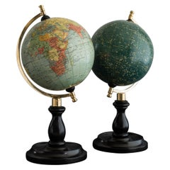 Set of Matching Terrestrial and Celestial Globes, circa 1935