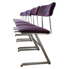 Set of Metal Midcentury Dining Chairs '6'