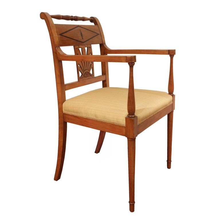 Unknown Set of Mid-19th Century Biedermeier Dining Room Chairs For Sale