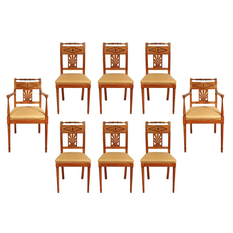 Set of Mid-19th Century Biedermeier Dining Room Chairs For Sale