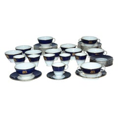 Set of Mid-19th Century Cobalt Blue and White Porcelain, China