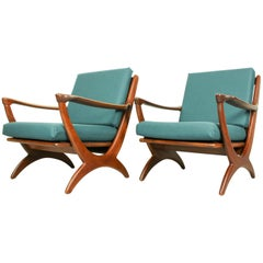Set of Midcentury Armchairs Dutch Design for De Ster Gelderland, 1950s