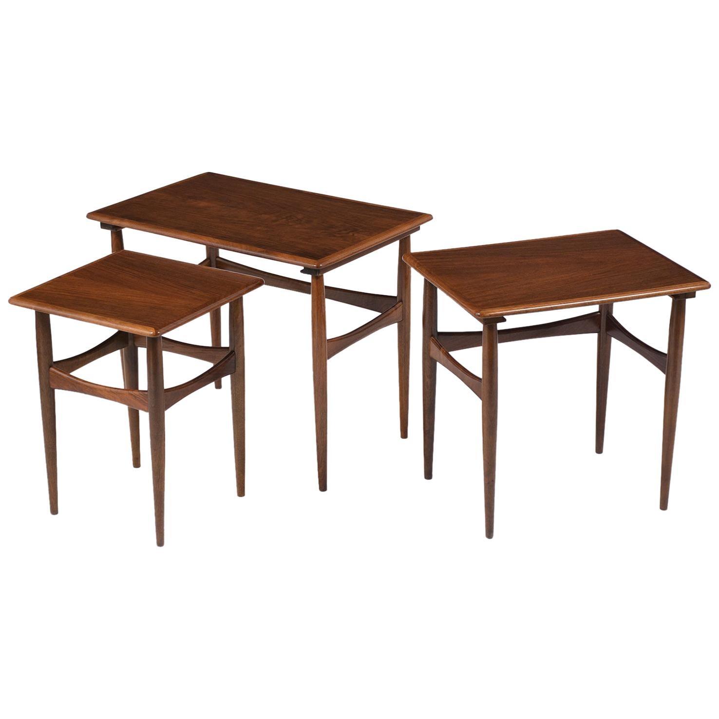 Set of Three Danish Nesting Tables