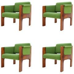 Set of Midcentury Design Armchairs, 1970s