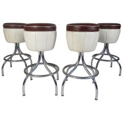 Set of Mid-Century Modern Bar Stools