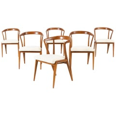 Set of Mid-Century Modern Bertha Schaefer for Singer and Sons Dining Chairs
