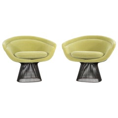 Set of Mid-Century Modern Bronze Warren Platner Lounge Chairs for Knoll