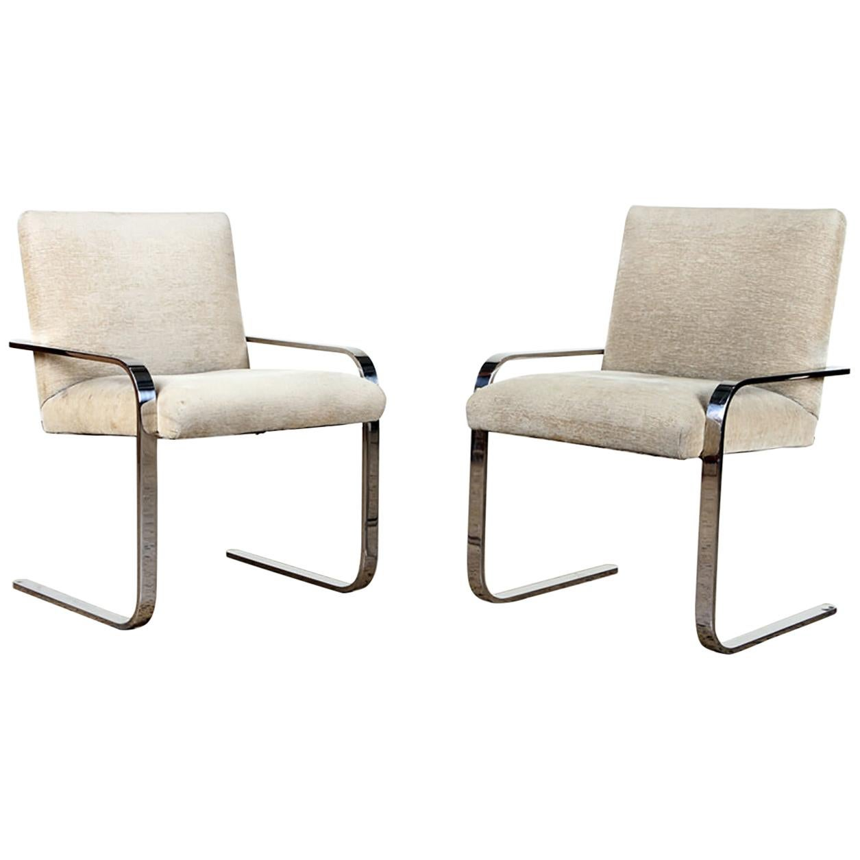 Set of Mid-Century Modern Chrome Dining Chairs