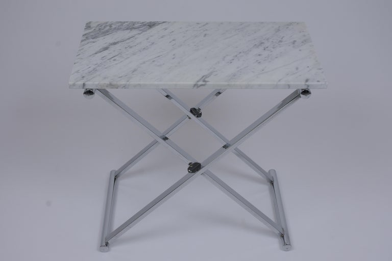 American Set of Mid-Century Modern Chrome Side Tables For Sale