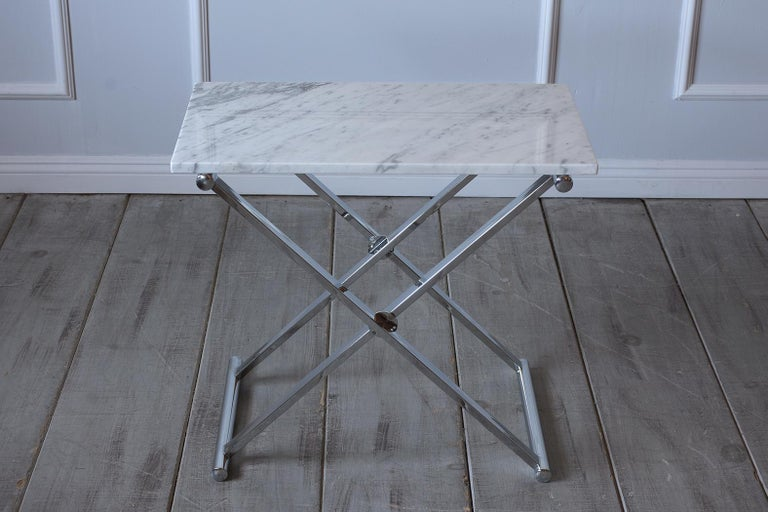 Steel Set of Mid-Century Modern Chrome Side Tables For Sale