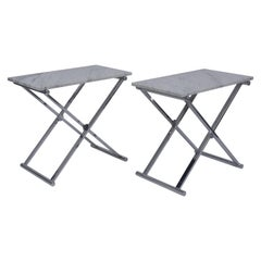 Set of Mid-Century Modern Chrome Side Tables