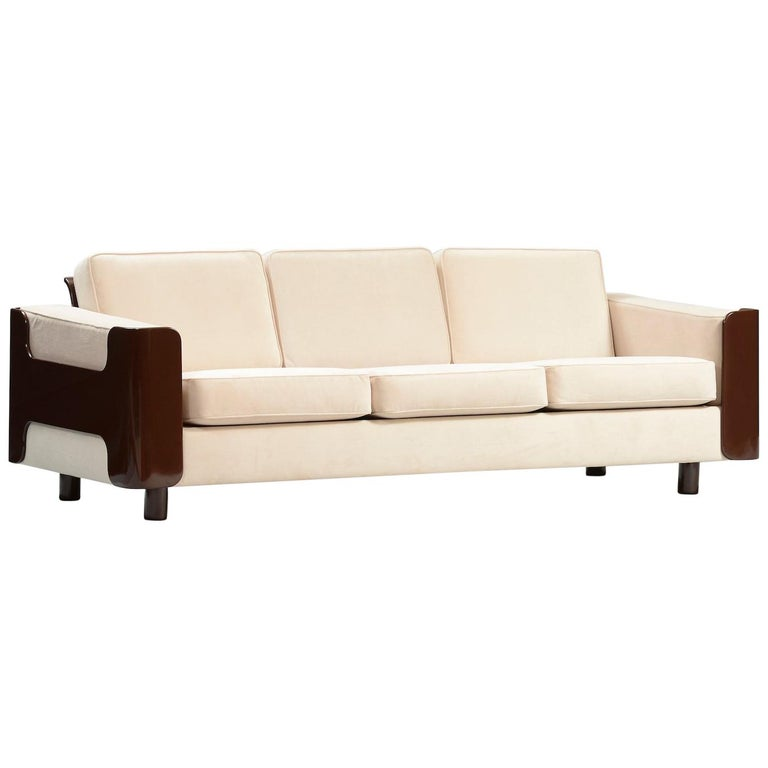 Set of Mid-Century Modern Lacquered Danish Sofas For Sale at 1stdibs